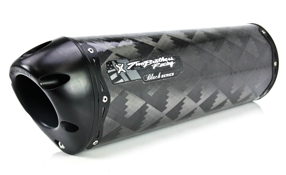 Two Brothers V.A.L.E. Cat Eliminator Black Series Slip-On Exhaust System - M-2 Carbon Fiber