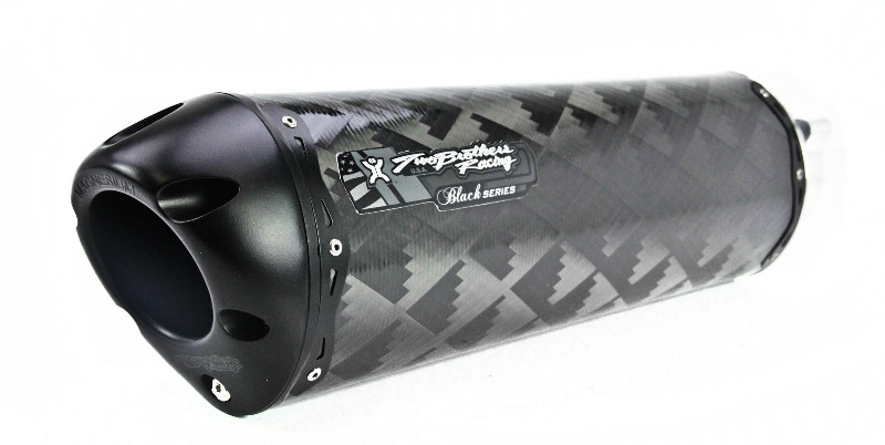 Two Brothers V.A.L.E. Black Series Flange-On Exhaust System - M-2 Carbon Fiber