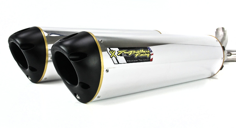 Two Brothers V.A.L.E. Dual Slip-On Exhaust System - M-2 Aluminum
