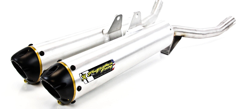 Two Brothers V.A.L.E. Dual Slip-On Exhaust System - M-6 Aluminum