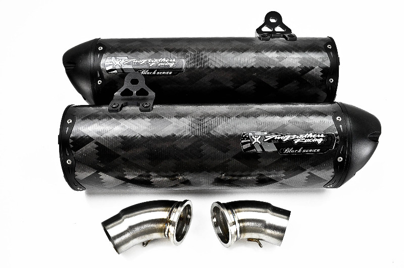 Two Brothers V.A.L.E. Black Series Dual Slip-On Exhaust System - M-2 Carbon Fiber