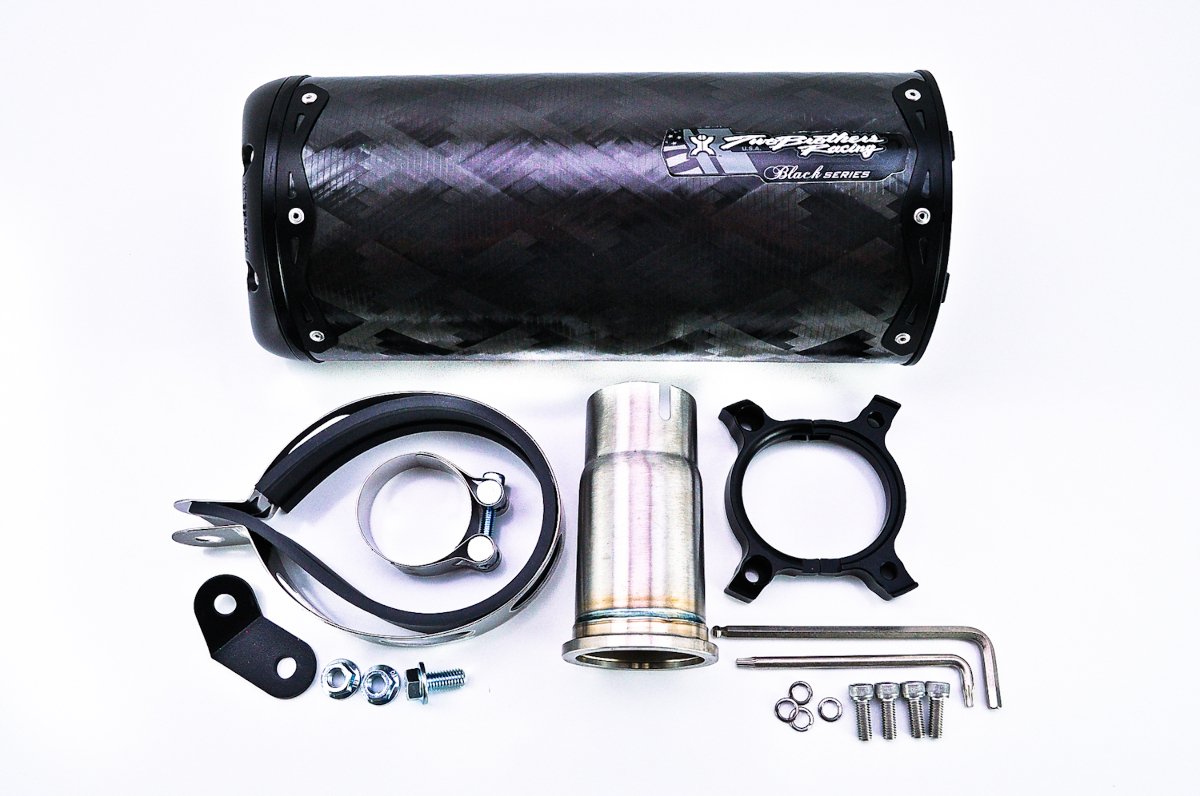 Two Brothers V.A.L.E. Black Series Slip-On Exhaust System - M-2 Shorty Carbon Fiber