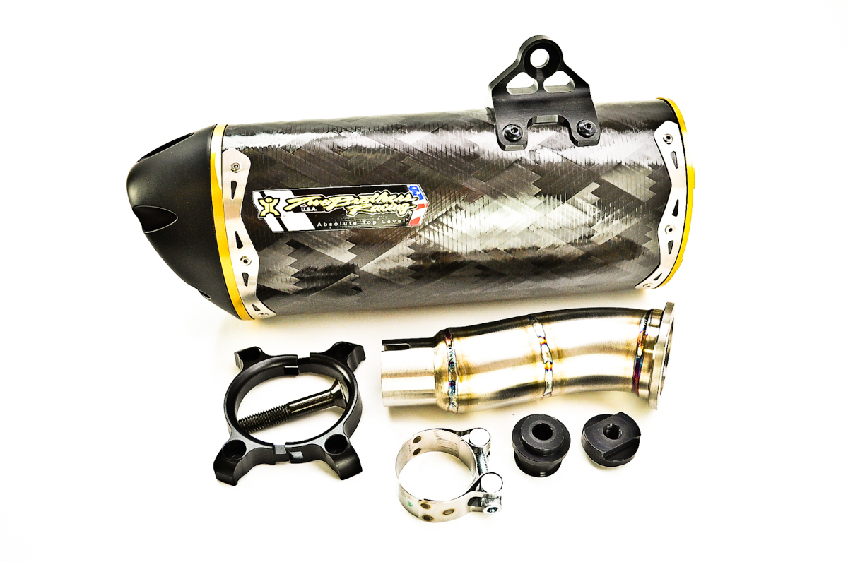 Two Brothers V.A.L.E. Slip-On Exhaust System - M-2 Carbon Fiber