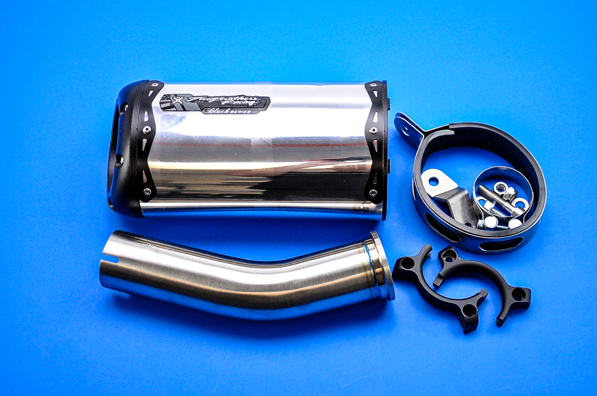 """Two Brothers V.A.L.E. """"V2"""" Black Series Slip-On Exhaust System - M-2 Aluminum"""