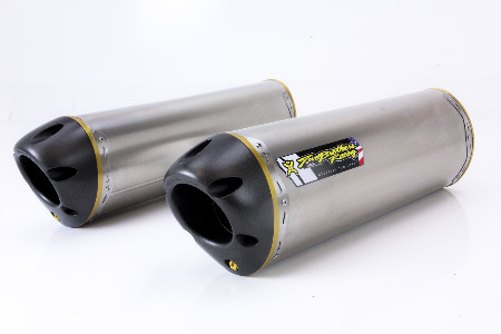 Two Brothers V.A.L.E. Dual Slip-On Exhaust System - M-2 Titanium