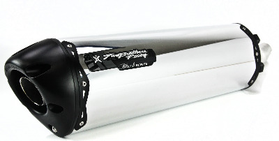 Two Brothers V.A.L.E. Black Series Slip-On Exhaust System - M-2 Aluminum