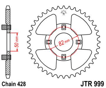JT Sprocket,s 428 Steel Rear Sprocket, 50T