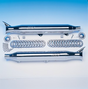 SuperTrapp Chrome Fishtail Slip-On Mufflers