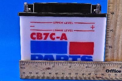 Parts Unlimited 12-Volt Battery Kit WITH ACID CB7-A-FP