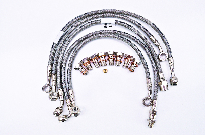 Stainless Steel 5 Line Kit - Front and Rear Included