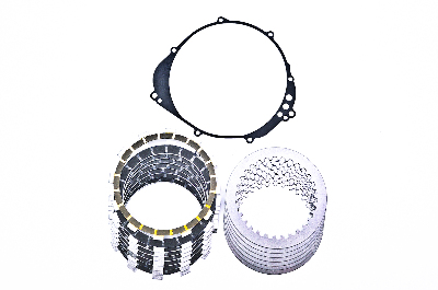 Barnett Carbon Fiber Friction and Steel Clutch Plates Kit with OEM Gasket