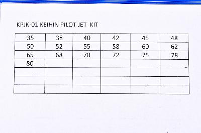 Details about EBC Keihin Pilot Jet Kit, Style 424-21, Jet Sizes 35-80  KPJK-01