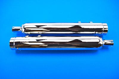 SuperTrapp Stout Chrome Slip-On Mufflers