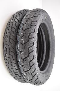 Dunlop D404 Front & Rear Tire Set with Bridgestone Standard Inner Tubes