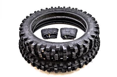 Kenda K760 Trakmaster II Dual Sport Front & Rear Tire Set with IRC Inner Tubes