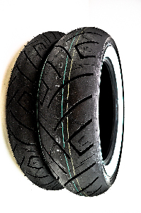 Shinko 777 Heavy Duty Whitewall Front & Rear Tire Set