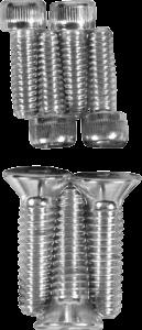 Drag Specialties Knurled Socket-Head Bolt Set, Chrome