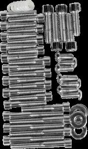 Drag Specialties Smooth Socket-Head Bolt Set, Chrome