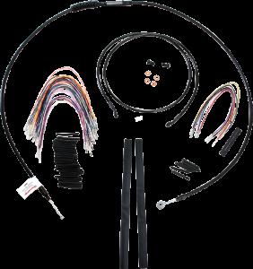 Burly Brand Extended Cable/Brake Line Kit for 15in  Ape Hanger Bar