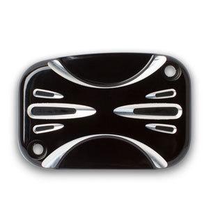 Arlen Ness Clutch Master Cylinder Cover, Deep Cut - Black