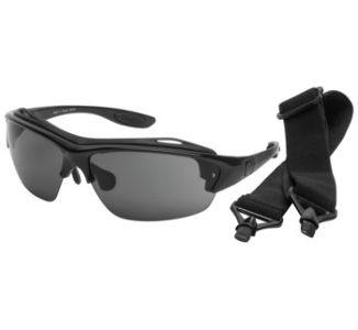 BikeMaster Black w/Smoke Lens Megalo Convertible Sunglasses