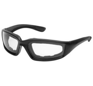 BikeMaster Matte Black w/Clear Lens Rider Wrap Sunglasses