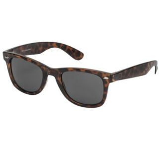 BikeMaster Brown w/Smoke Lens Idol Retro Sunglasses