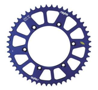 Sunstar Works Triplestar Aluminum Rear Sprocket, 52T - Blue