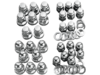 Colony Cylinder Base Nut Kit, Acorn Style - Chrome  7017-16