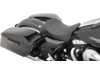 Drag Specialties Front Seat with Flame Stitch and Backrest Receptacle, Black