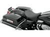 Drag Specialties Front Pinstripe and Backrest Receptacle Seat, Black Pinstripe