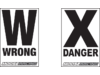 COURSE-ARROW, DANGER/WARN