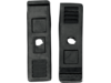 Parts Unlimited Black Front Rubber Hood Latches