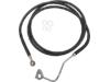 Drag Specialties Front Stainless Steel Brake Line Kit, Black