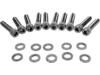 Drag Specialties Black Chrome Knurled Socket-Head Bolt Set