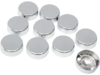 "Drag Specialties 7/16"" Hex Bolt Covers, Chrome"