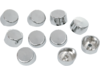 Drag Specialties Buttonhead/Allen-Hex Bolt Covers, Chrome