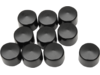 "Drag Specialties 1/2"" Hex Bolt Covers, Black"
