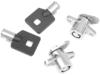 Drag Specialties Saddlebag Lock set w/Keys, Chrome