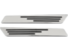 Drag Specialties Saddlebag Hinge Inserts, Chrome