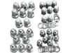 Drag Specialties Acorn Head Bolt Set, Chrome