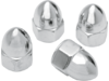 "Drag Specialties 1/4""-28 Ware Acorn Nut, Chrome"
