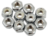 Drag Specialties (10-32) Nylon Insert Nut Assortment, Chrome