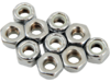 "Drag Specialties 1/4""-28 Nylon Insert Nut Assortment, Chrome"