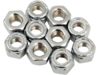 "Drag Specialties 5/16""-18 Nylon Insert Nut Assortment, Chrome"