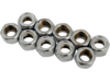 "Drag Specialties 5/16""-24 Nylon Insert Nut Assortment, Chrome"