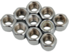 "Drag Specialties 3/8""-16 Nylon Insert Nut Assortment, Chrome"