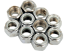 "Drag Specialties 7/16"" -20 Nylon Insert Nut Assortment, Chrome"