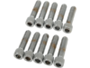 "Drag Specialties 1/4""-20 x 1"" Coarse-Thread Socket-Head Bolt, Chrome"
