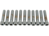 "Drag Specialties 1/4""-20 x 1 1/4"" Coarse-Thread Socket-Head Bolt, Chrome"